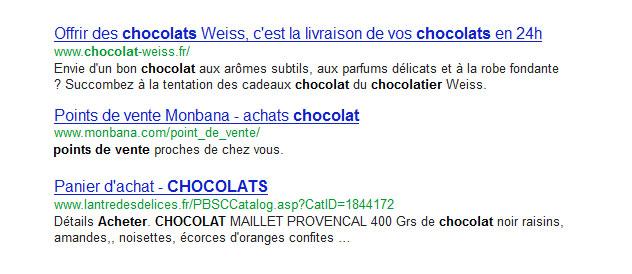 exemple de classement google
